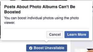 Facebook Photo Album Boosting Error