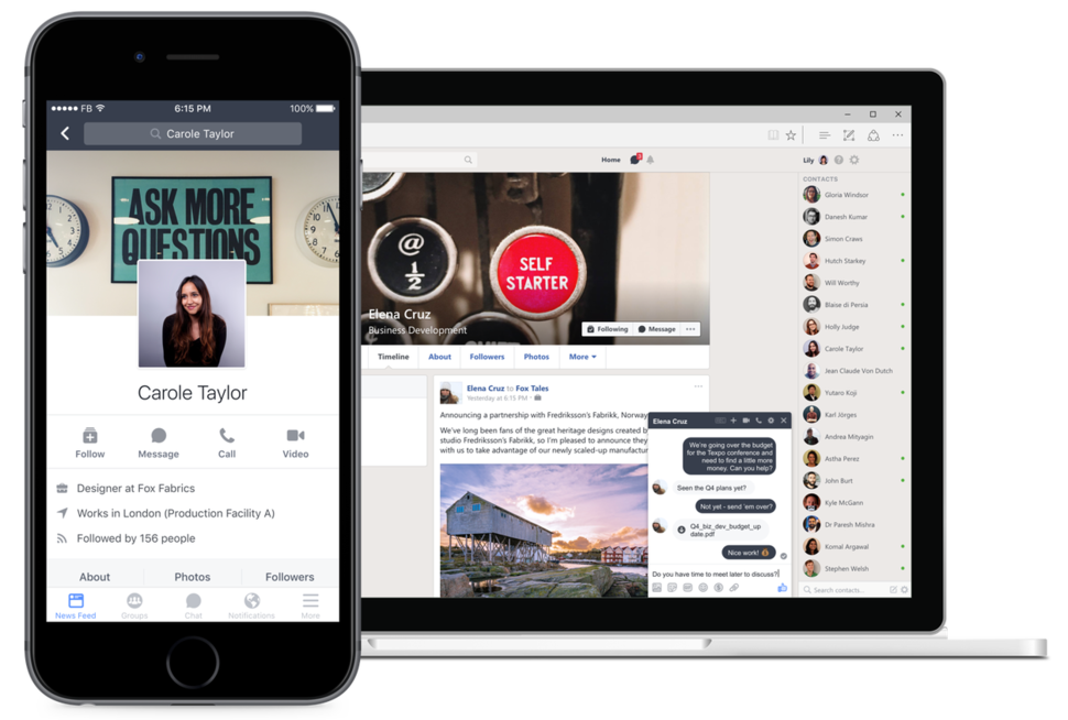 Facebook's Workplace preview