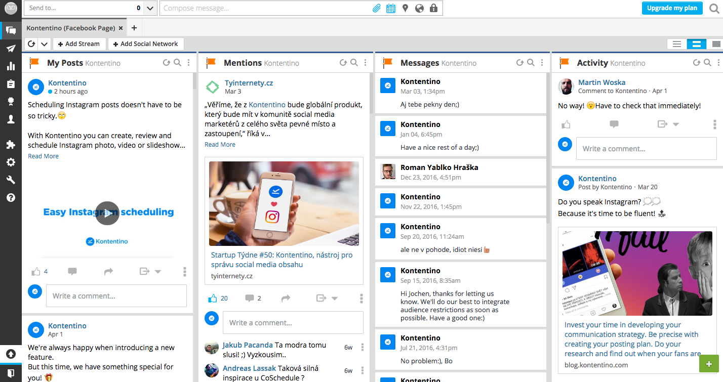 hootsuite streams preview