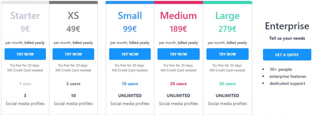 Kontentino pricing details