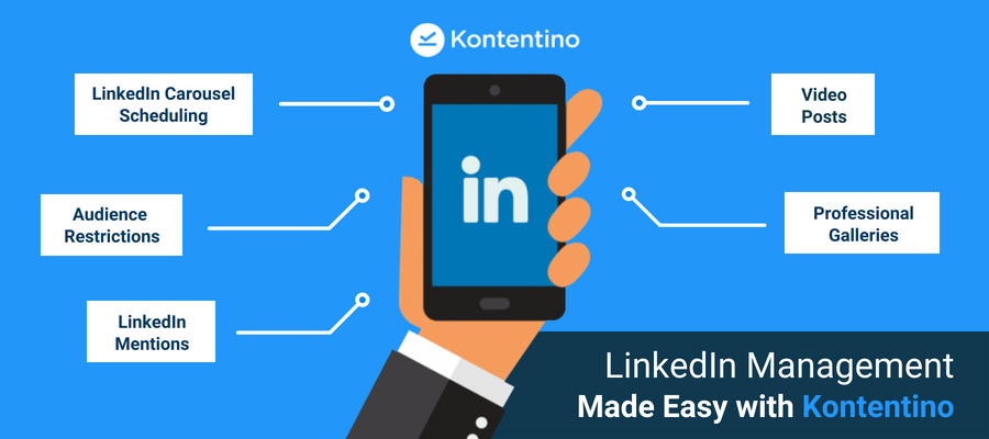 Kontentino LinkedIn Scheduling With Video Posts