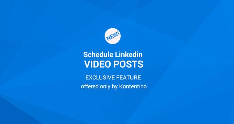 Kontentino LinkedIn Scheduler - Schedule posts on LinkedIn