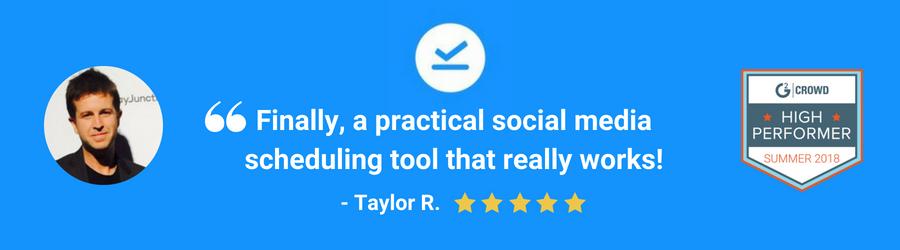 Social media tool testimonials
