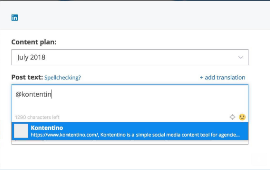 Linked in Mentions - Social Media Scheduling Software