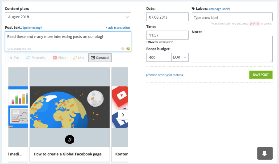 LinkedIn Carousel Scheduling: Carousel Ads - Social Media Scheduling Software