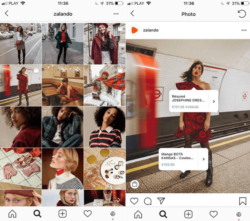 Kontentino_The ultimate list of social media trends for 2019_Social commerce by Zalando