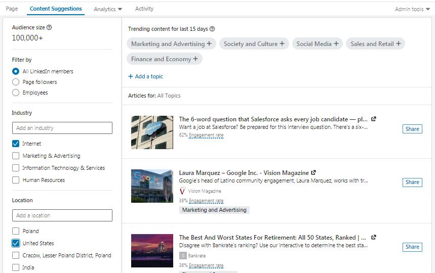 LinkedIn research