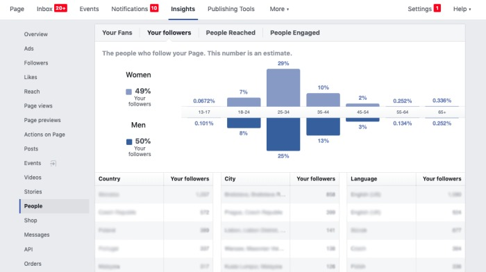 Facebook Insights to determine the time to publish on FB