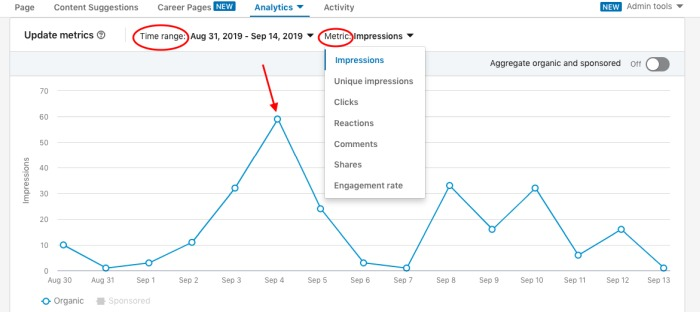LinkedIn Analytics to assist with LinkedIn publishing time