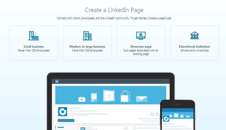LinkedIn business profile is your company page