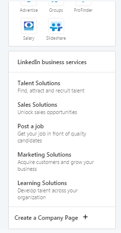 LinkedIn Business profile is easy to set up