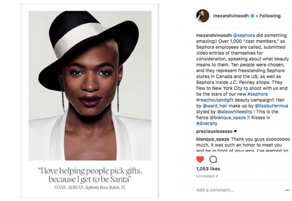 Campaign from Sephora can be a great social media strategy template