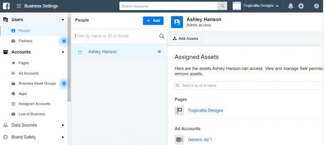 Adding managers to FB Business Manager