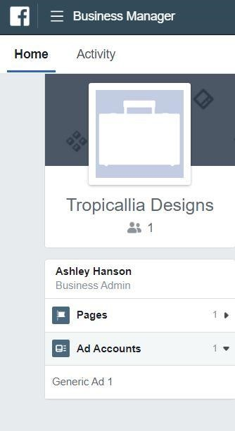 Managing ad accounts in FB Business Manager