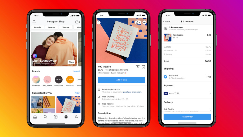 Instagram launches shops tabs